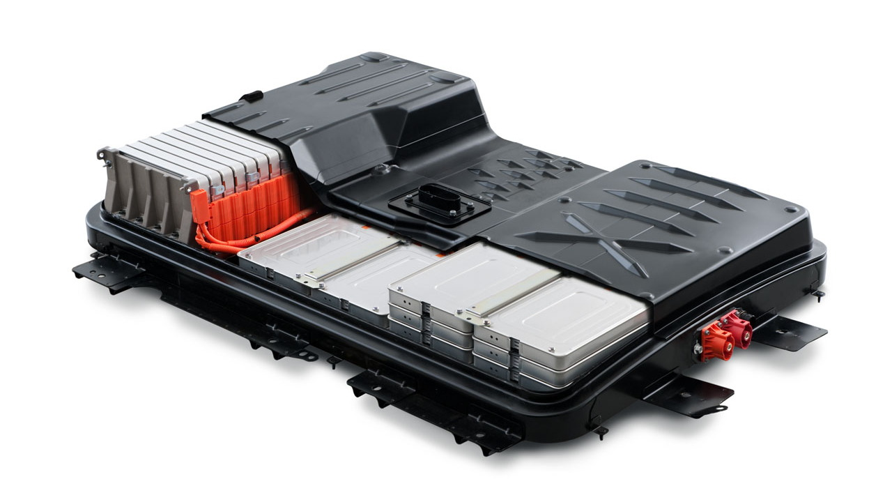 2011 Nissan Leaf - battery pack cutaway