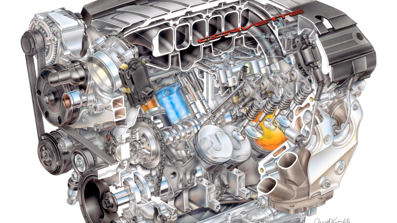 2014 Chevrolet Corvette Stingray LT1 engine