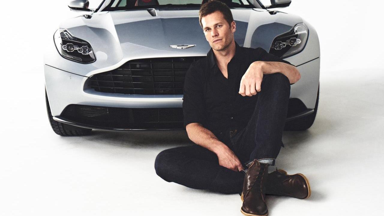 Tom Brady with Aston Martin Vanquish
