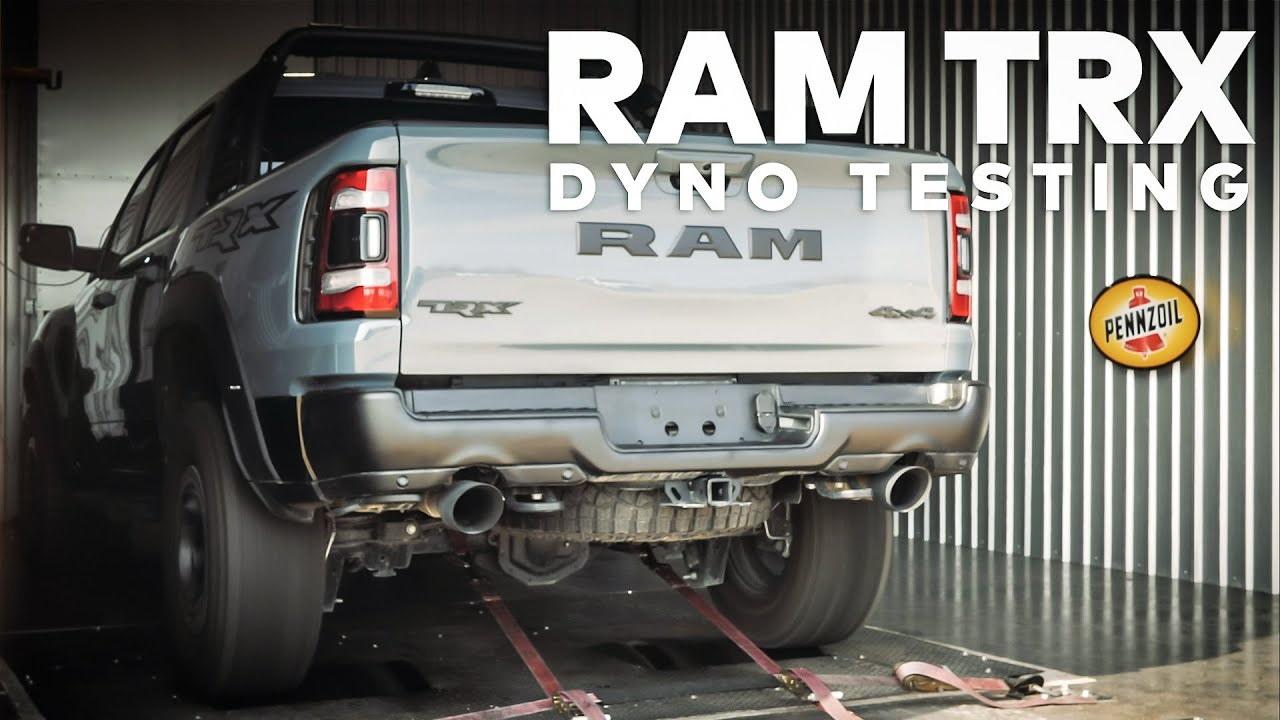 2021 Ram 1500 TRX strapped to dyno