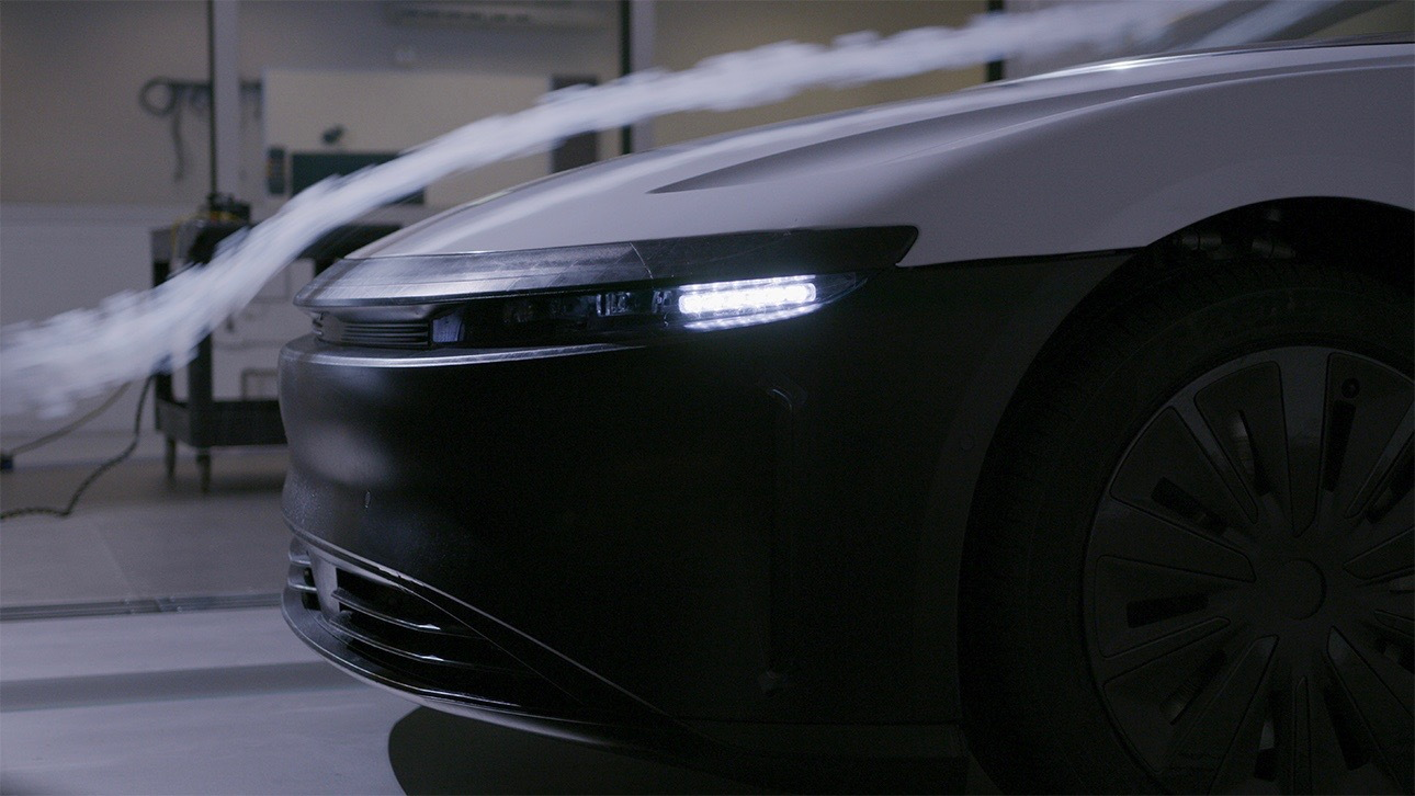 Lucid Air wind tunnel testing