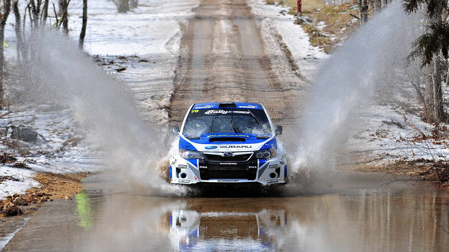 Subaru Rally Team USA at the 2013 Rally in the 100 Acre Wood