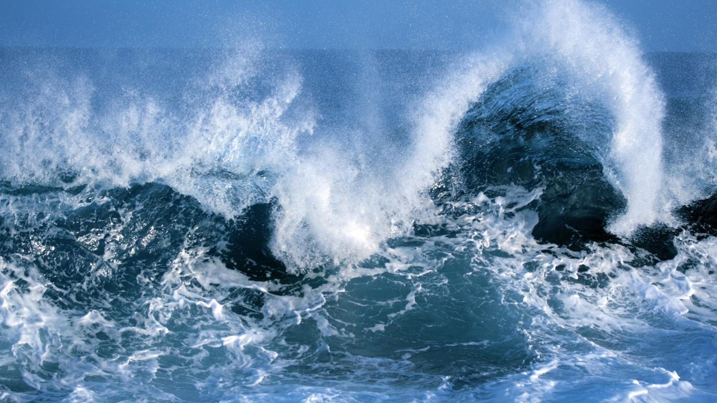 Ocean waves [CREDIT: Global Climate Budget 2018]