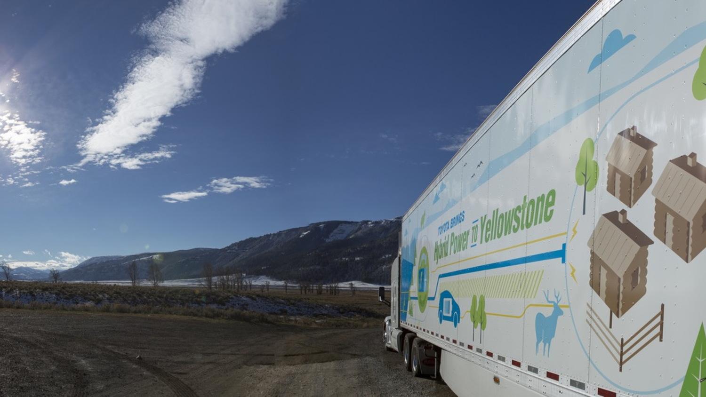 Used Toyota Camry Hybrid battery packs installed at Lamar Buffalo Ranch, Yellowstone National Park