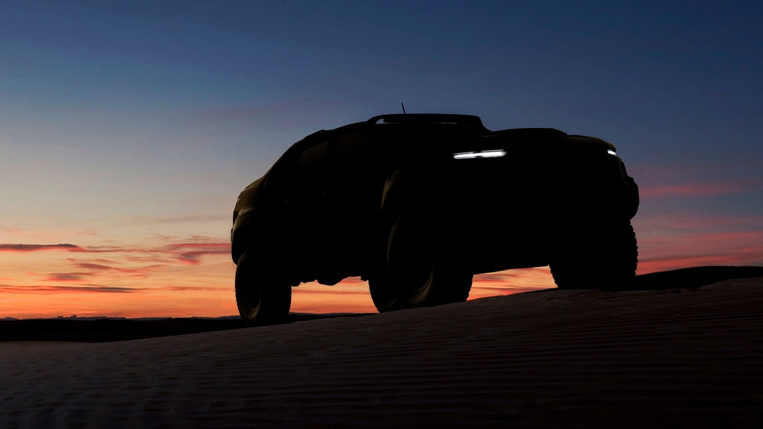 Teaser for Chevrolet Colorado fuel-cell prototype developed jointly with U.S. Army