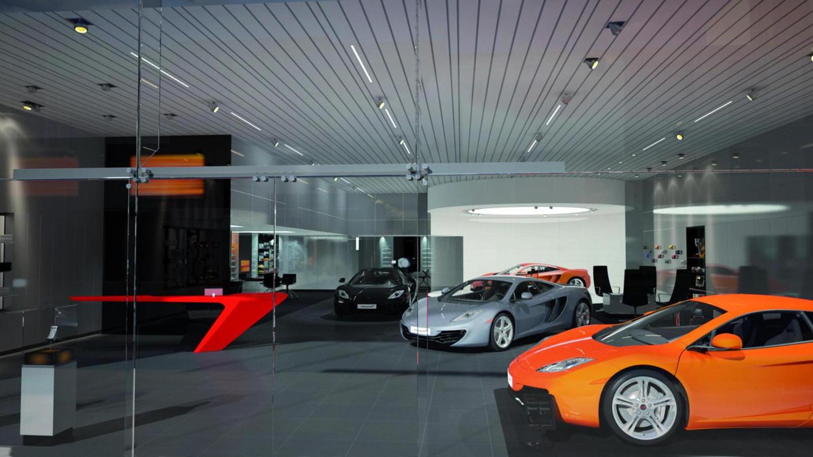 McLaren retail environment concept rendering