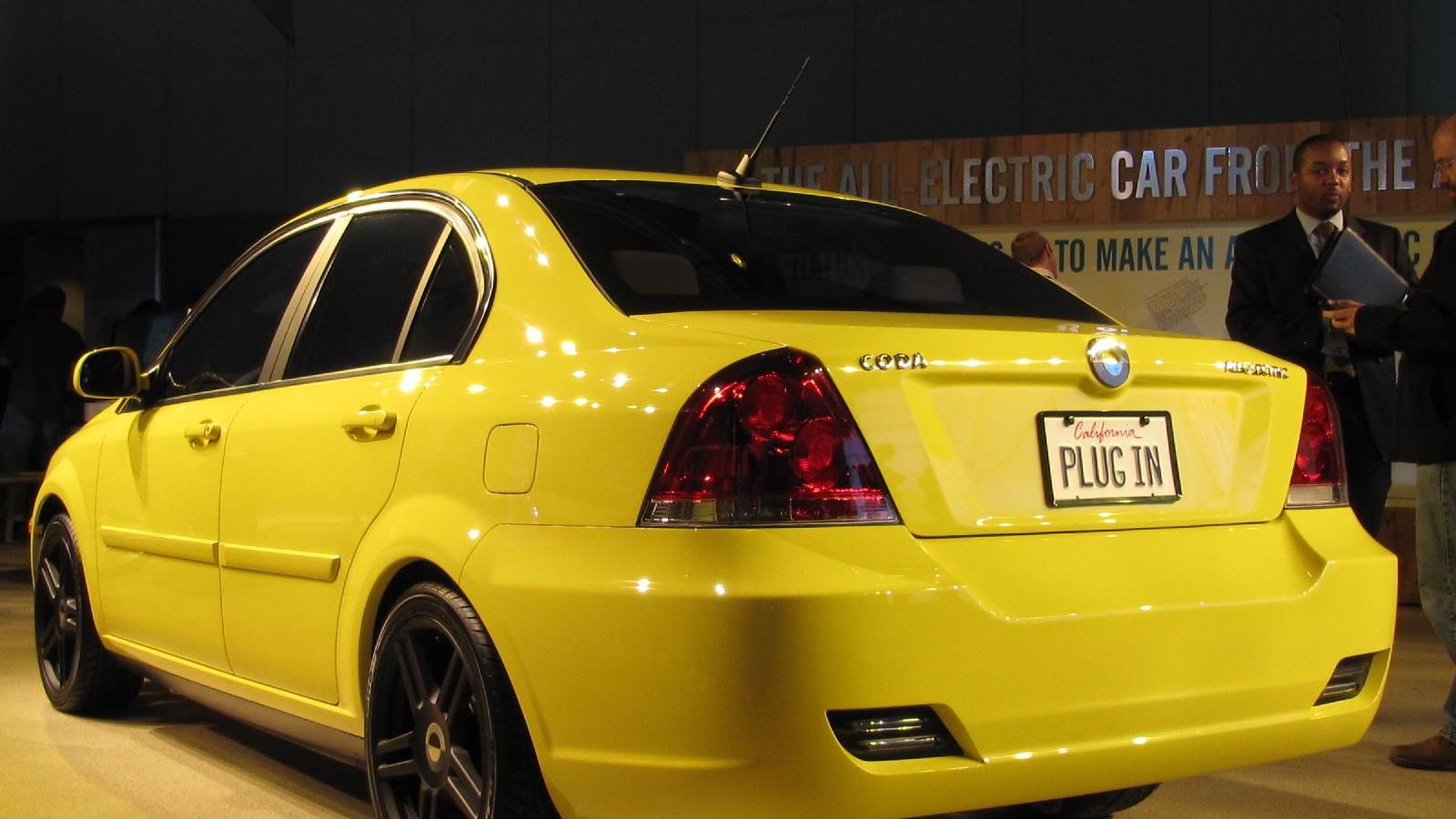 2011 Coda Sedan electric car, at 2010 Los Angeles Auto Show
