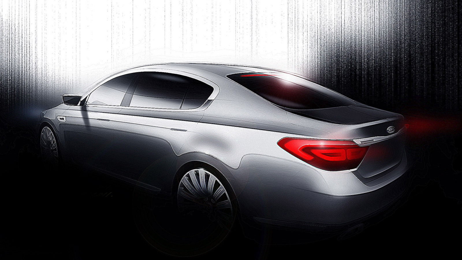 2013 Kia KH rear-wheel drive sedan teaser