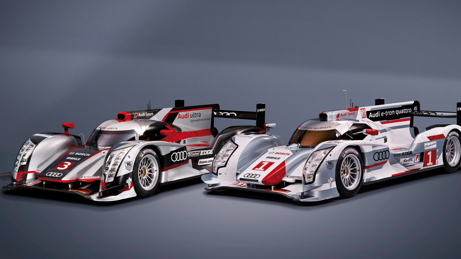2012 Audi R18 ultra and e-tron quattro LMP1 race car