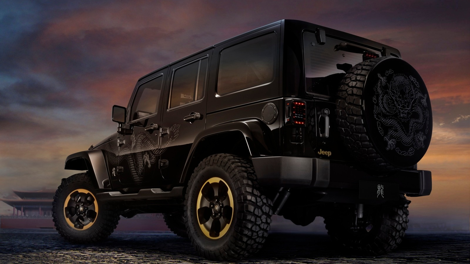 Jeep Wrangler Dragon Design Concept for the 2012 Beijing Auto Show