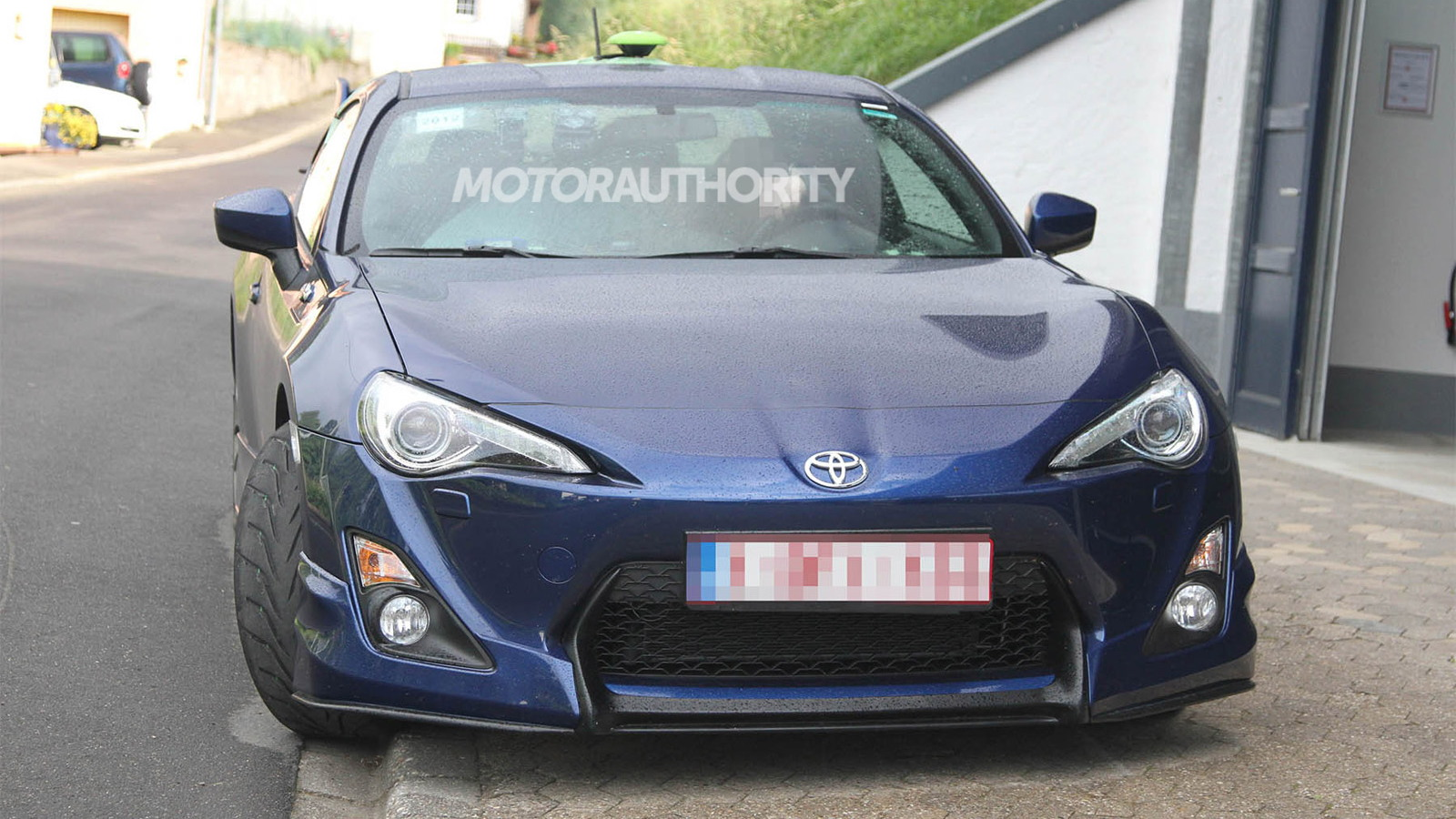 Toyota GT 86 with factory aero kit testing in Europe