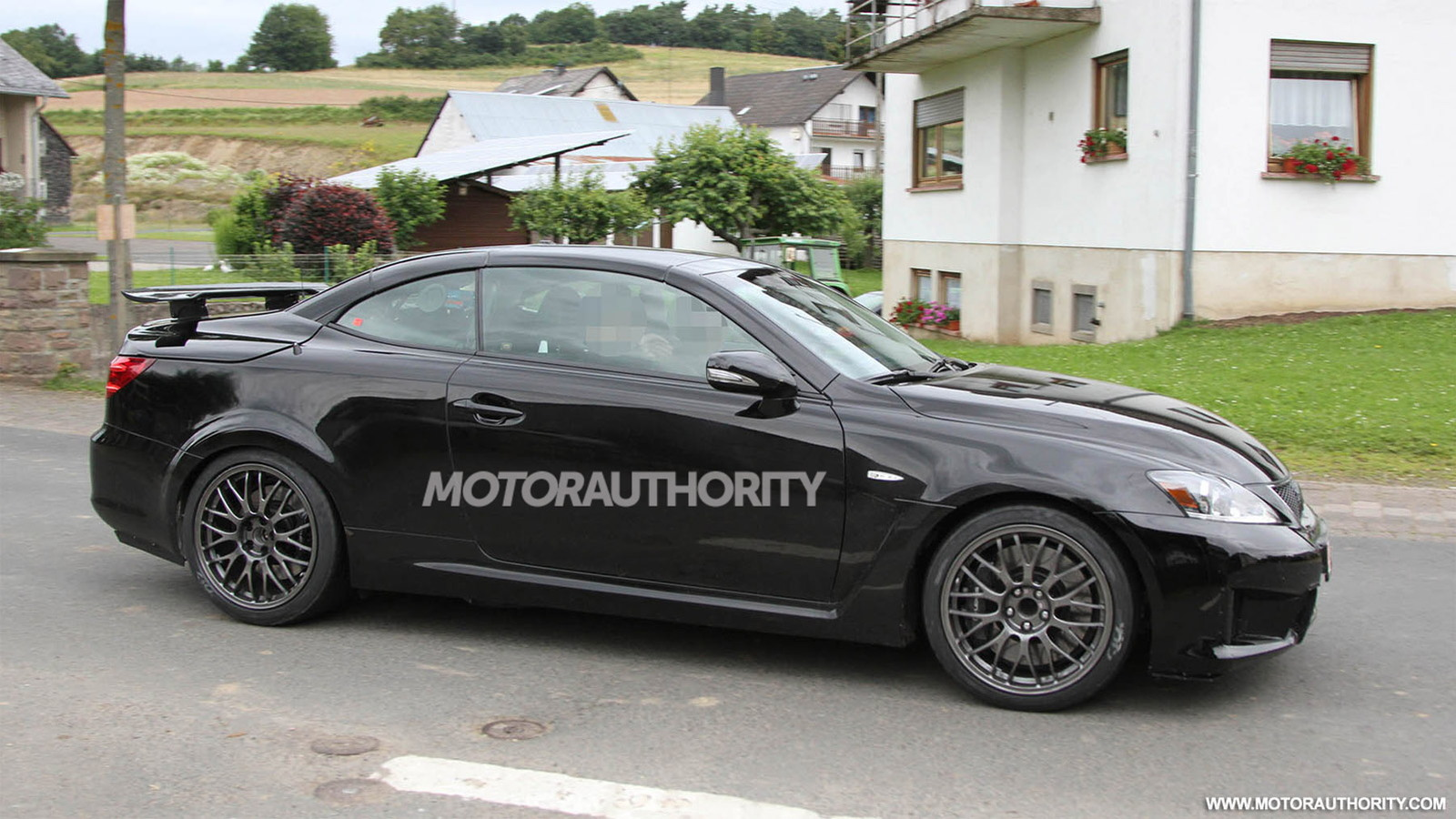 2014 Lexus IS F Convertible spy shots