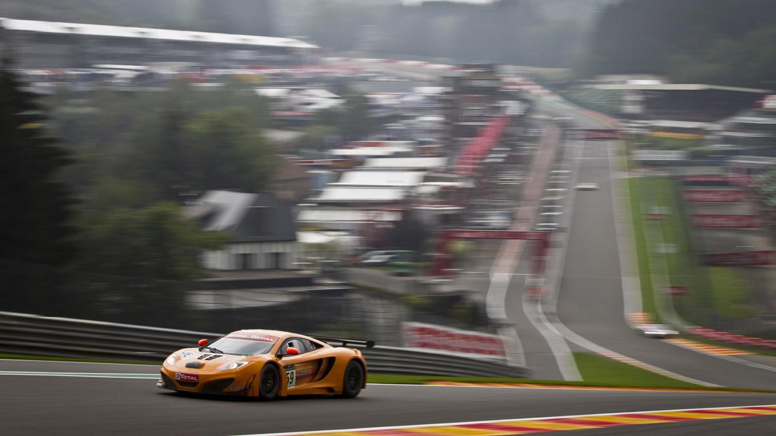 McLaren MP4-12C GT3 race car at Belgium's Circuit de Spa-Francorchamps