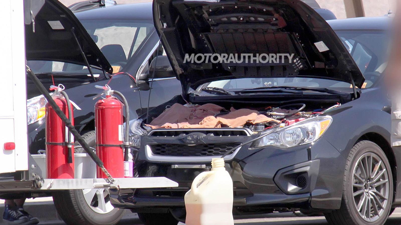 2015 Subaru WRX test mule spy shots