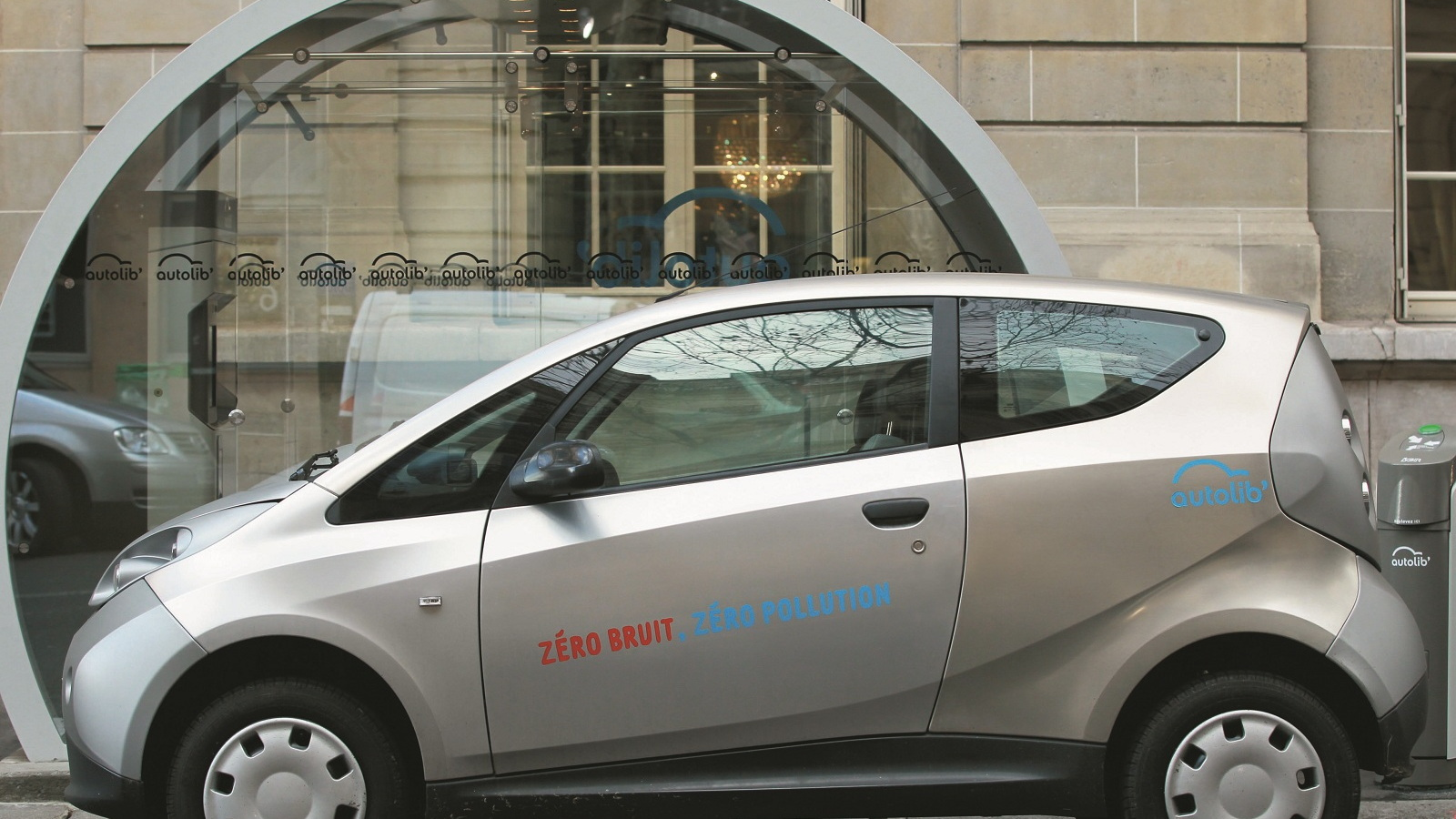 Bolloré BlueCar electric car used for Autolib' car-sharing service in Paris, September 2012