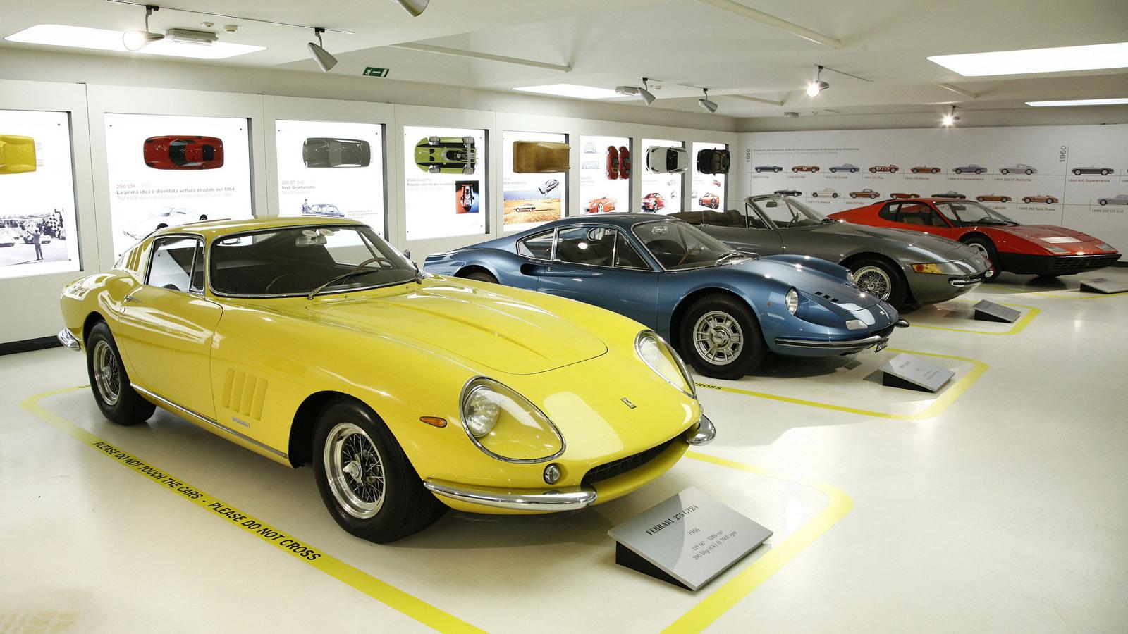 The Greatest Ferraris of Sergio Pininfarina exhibition at the Ferrari Museum, Maranello
