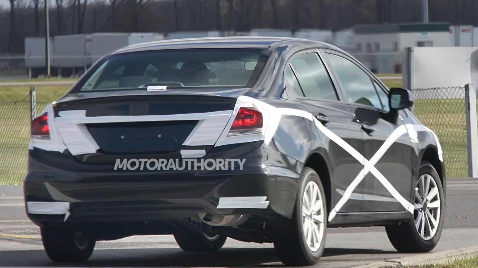 2013 Honda Civic facelift spy shots