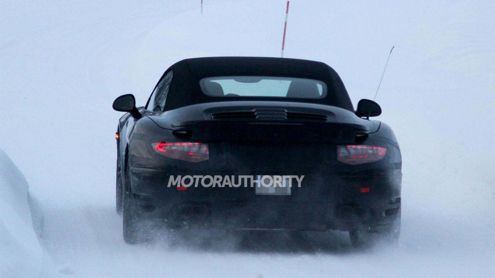 2014 Porsche 911 Turbo Cabriolet spy shots