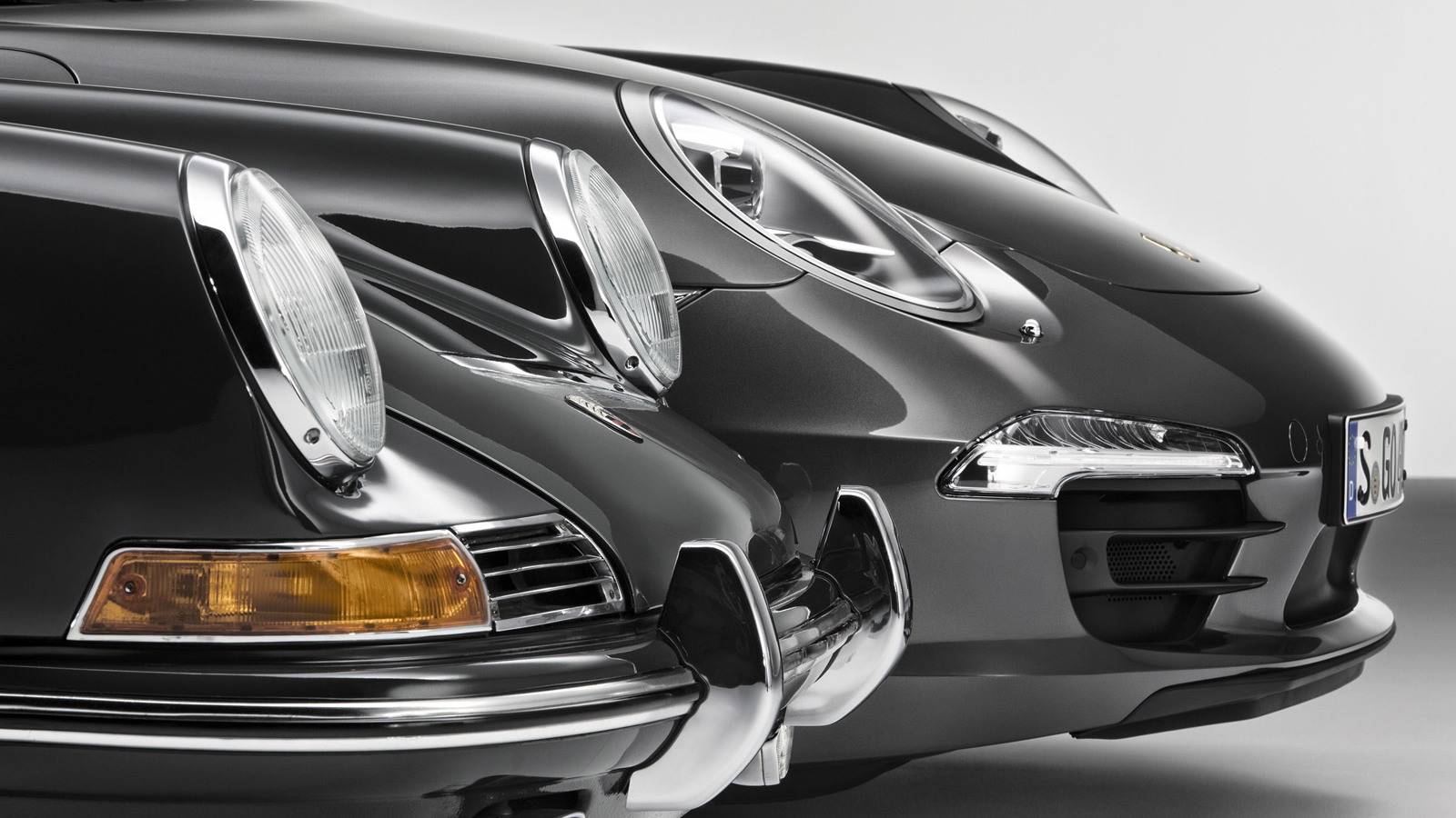 Original 1964 Porsche 911 and the Type-991 2013 Porsche 911 Carrera 4S