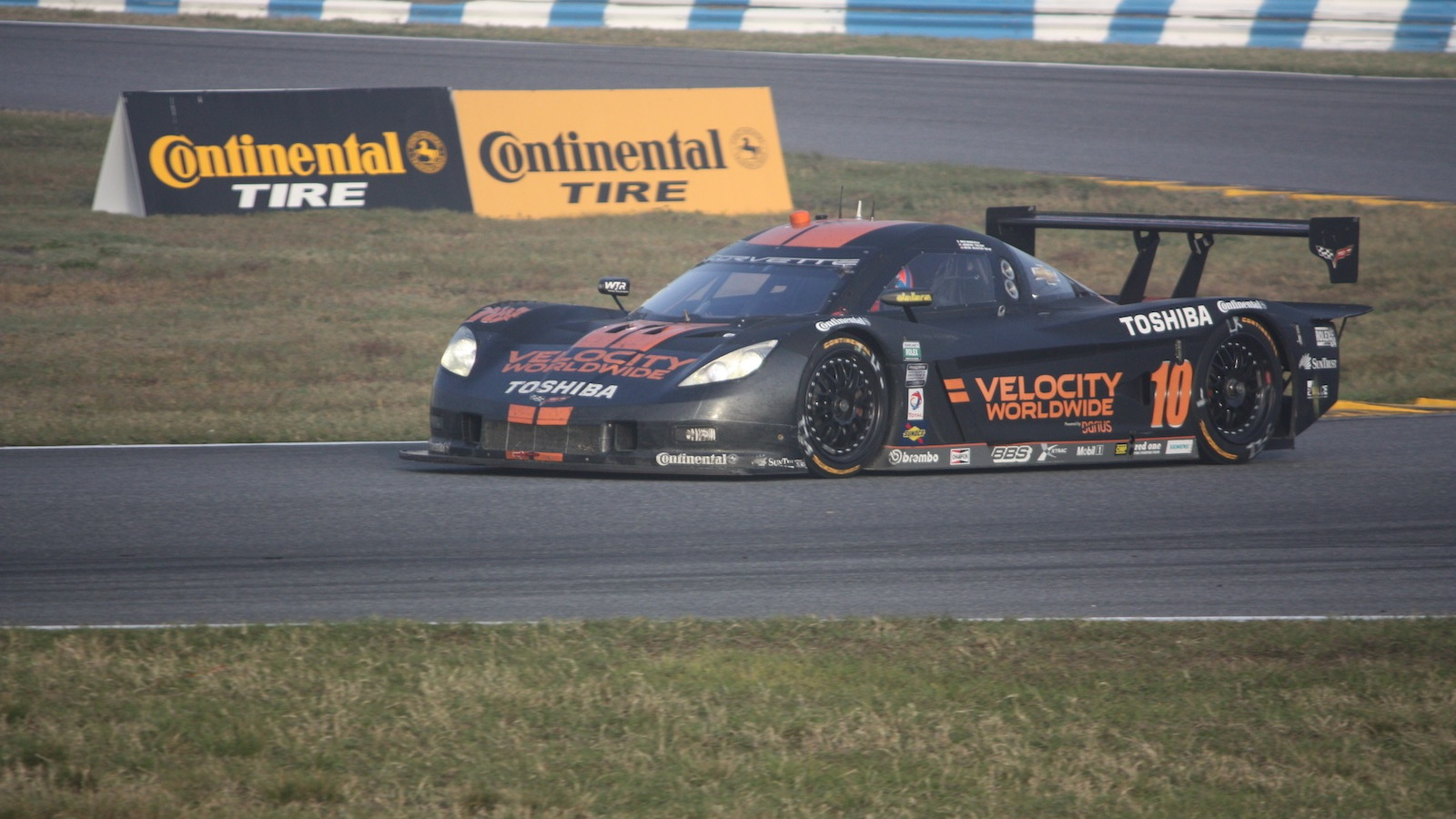 The DP class second place Corvette of Velocity Racing