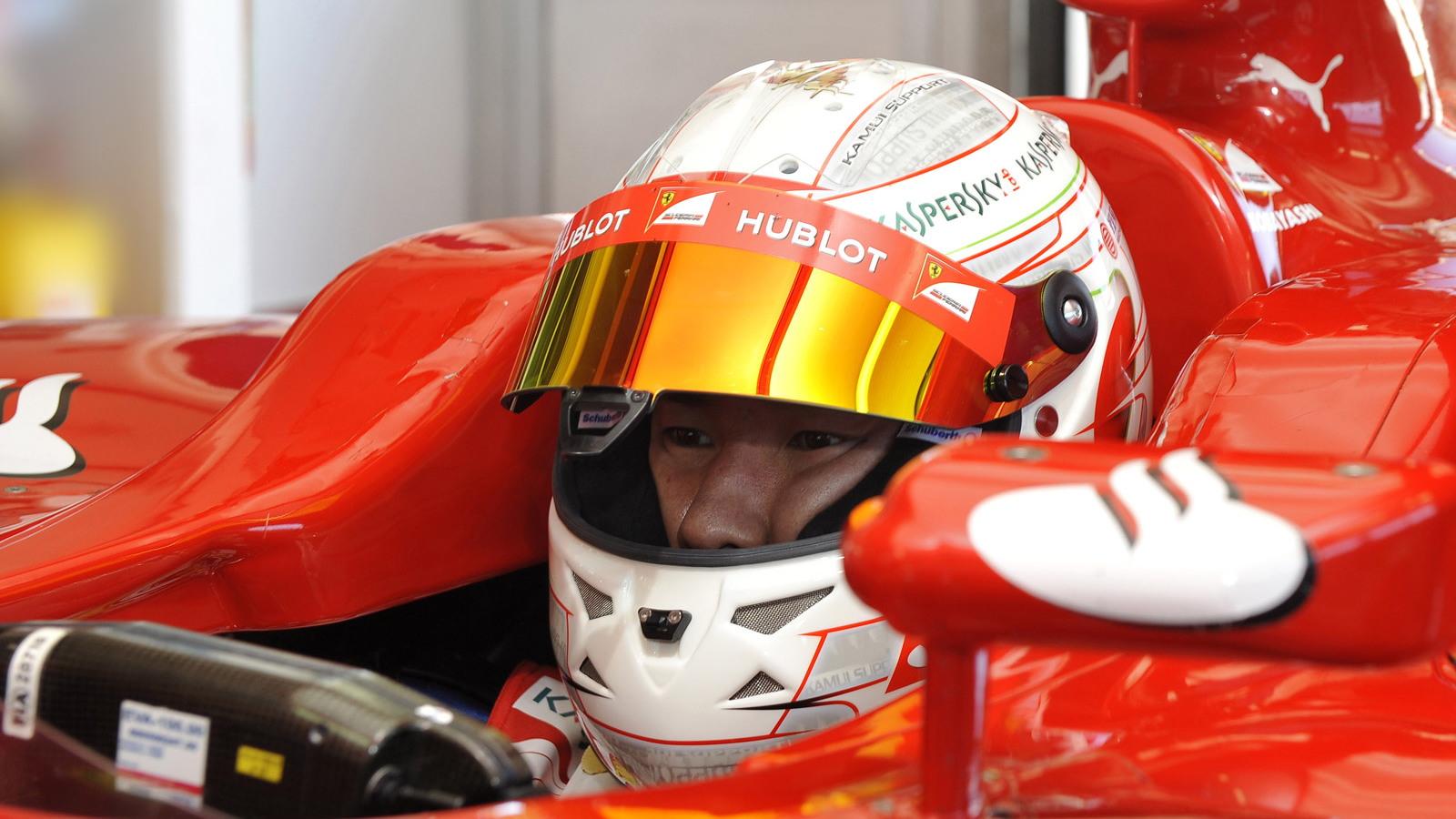 Kamui Kobayashi tests Ferrari's 2010 F1 car at Fiorano
