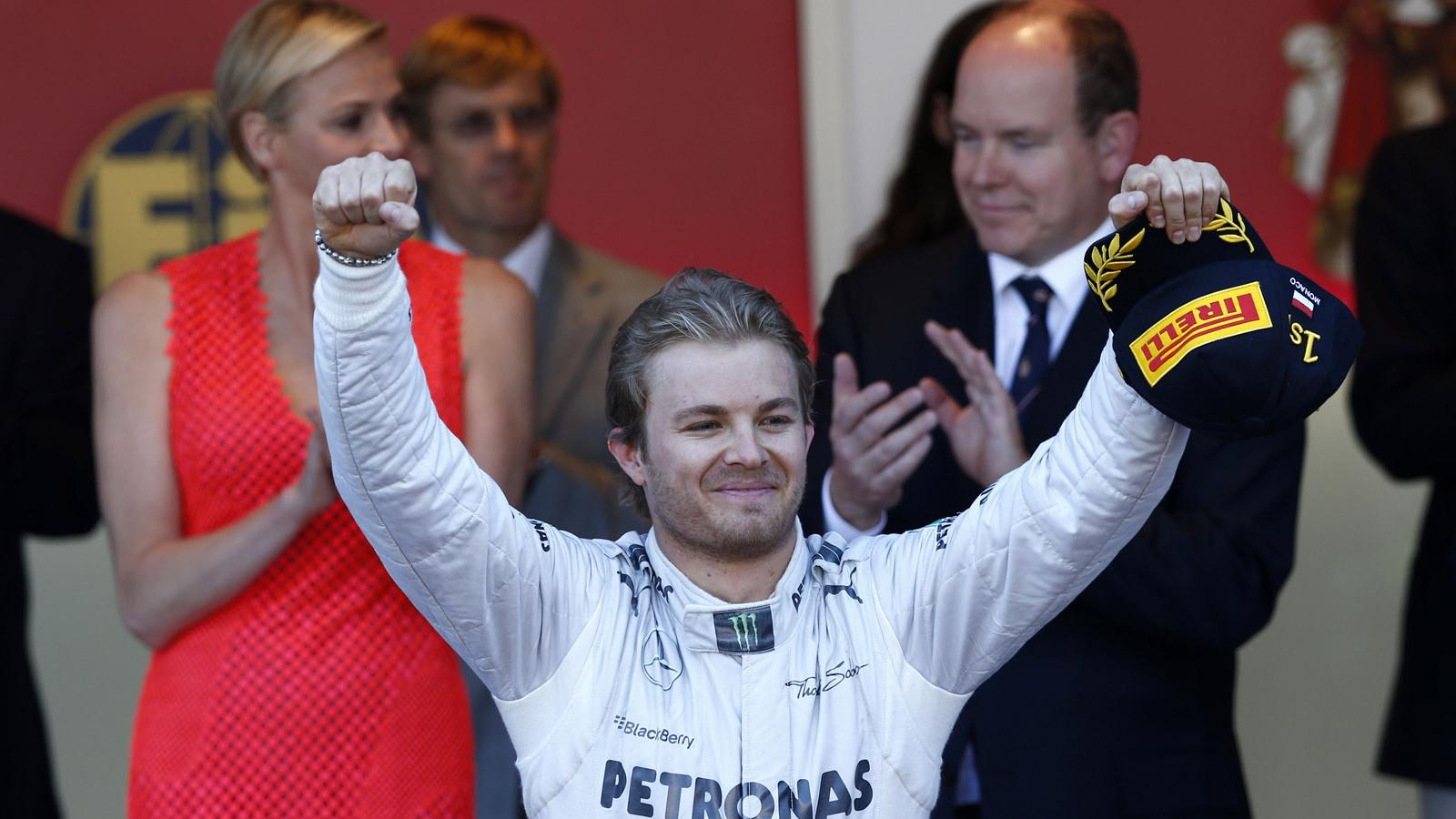 Mercedes AMG's Nico Rosberg after winning the 2013 Formula One Monaco Grand Prix