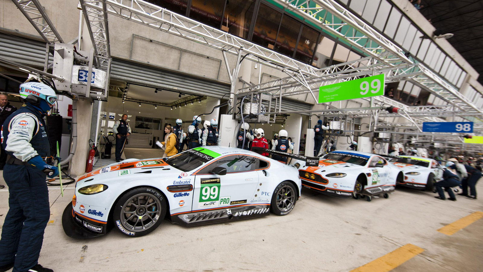 Aston Martin during official testing for 2013's 24 Hours of Le Mans
