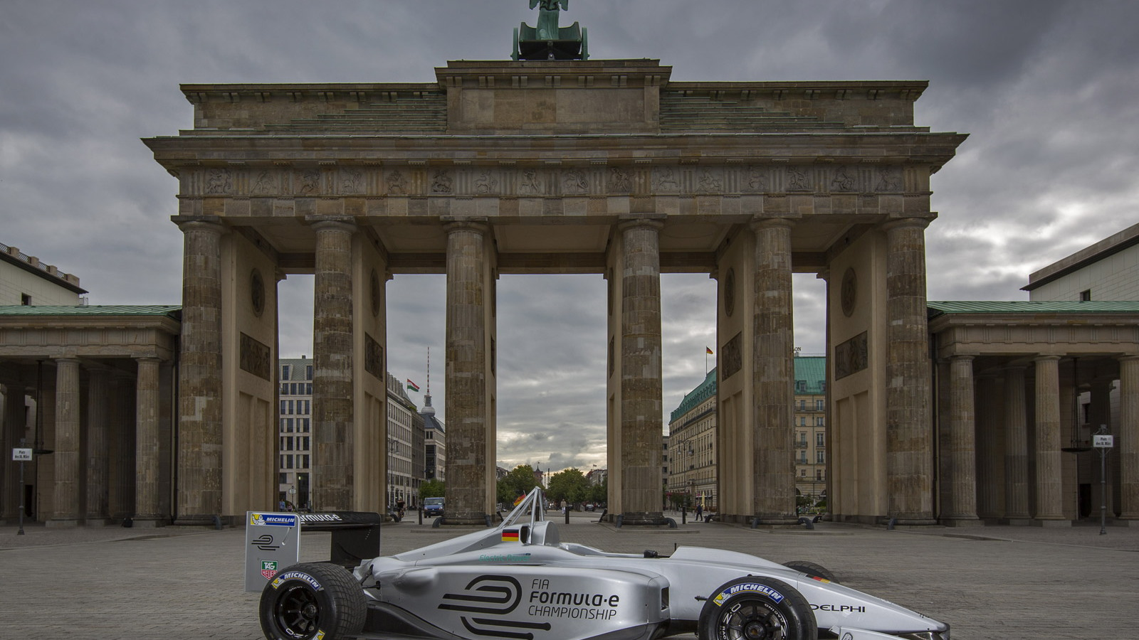 Formula E electric race car