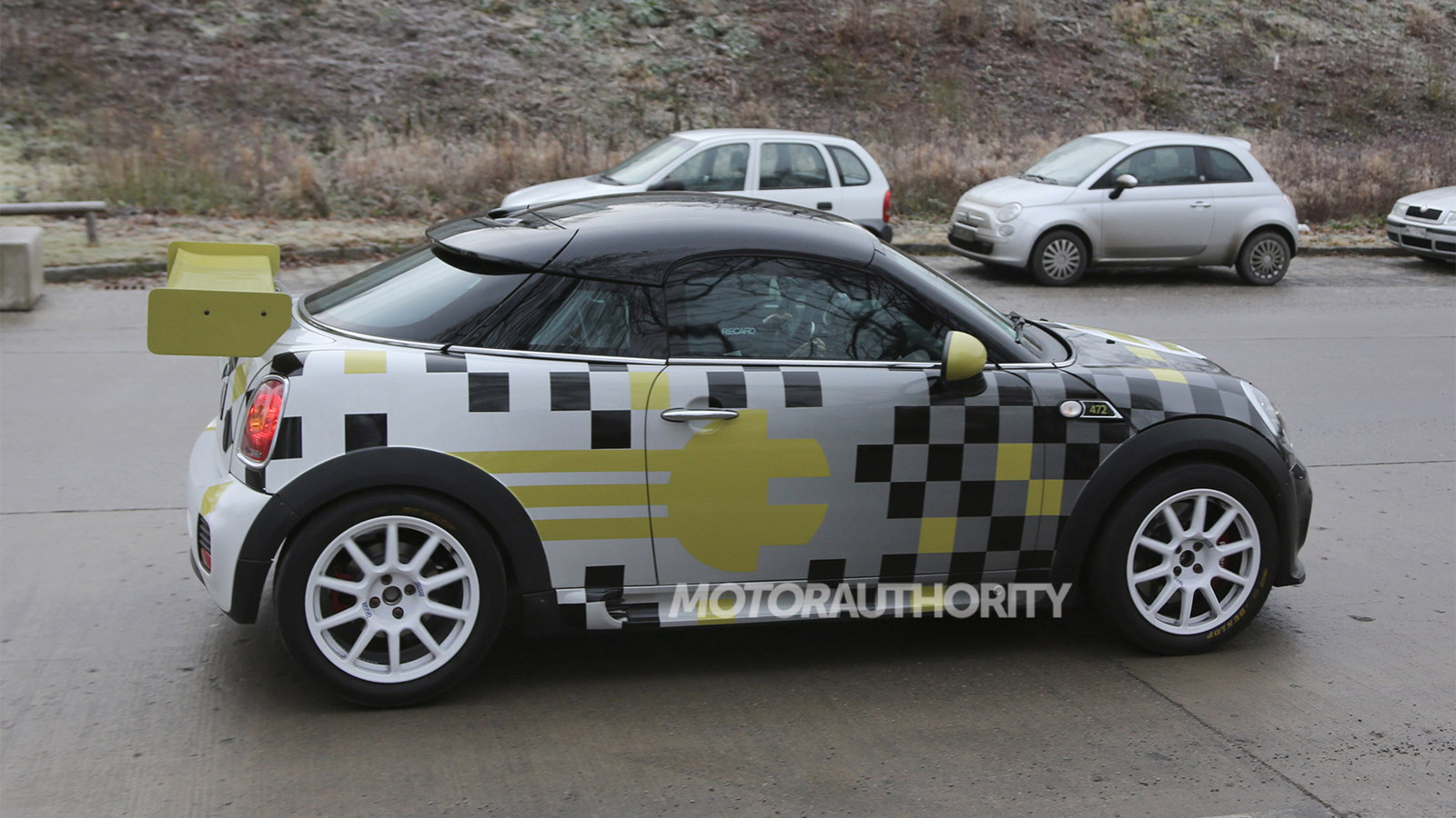 2014 MINI E Coupe spy shots