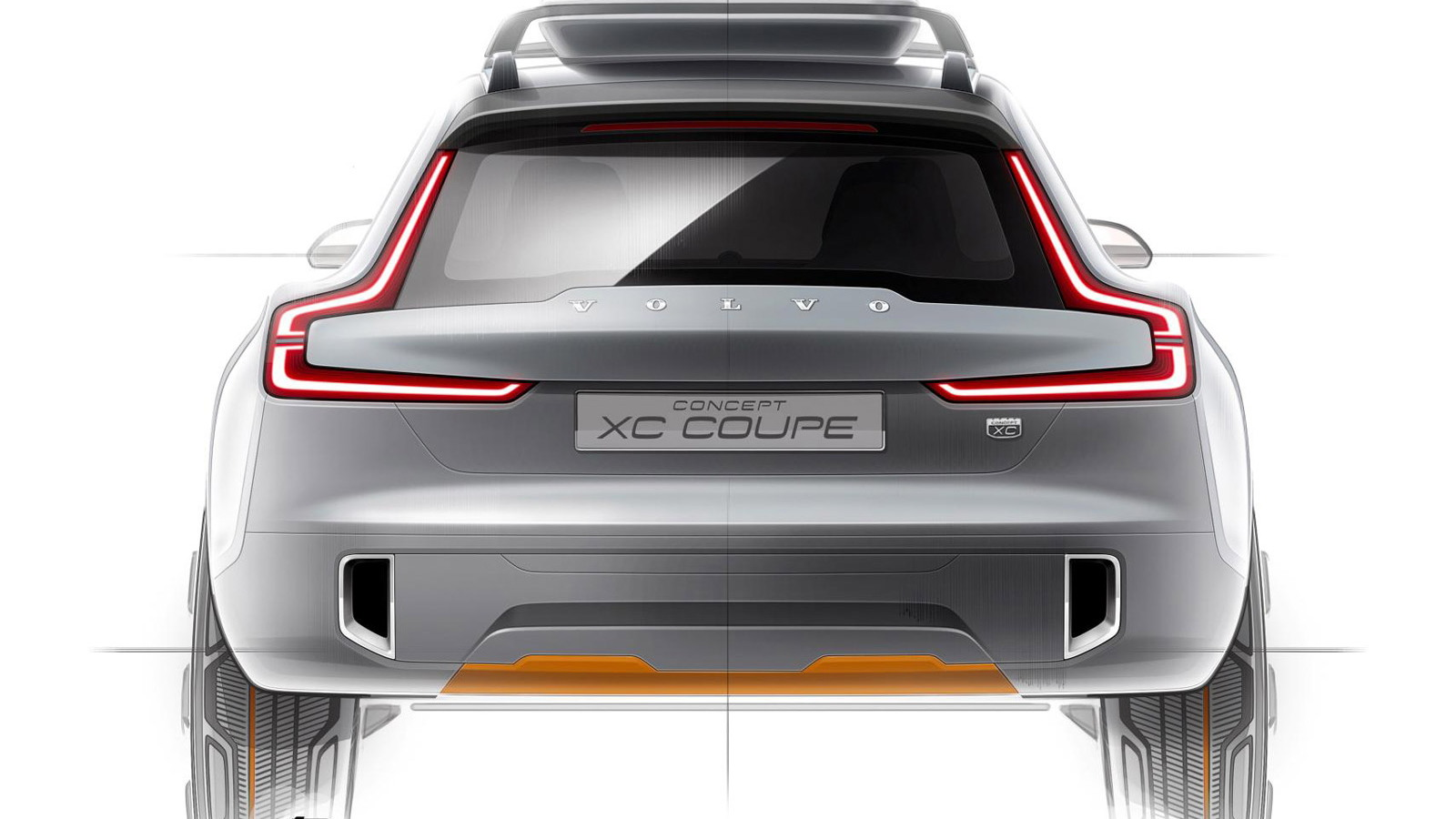 Teaser for Volvo Concept XC Coupe