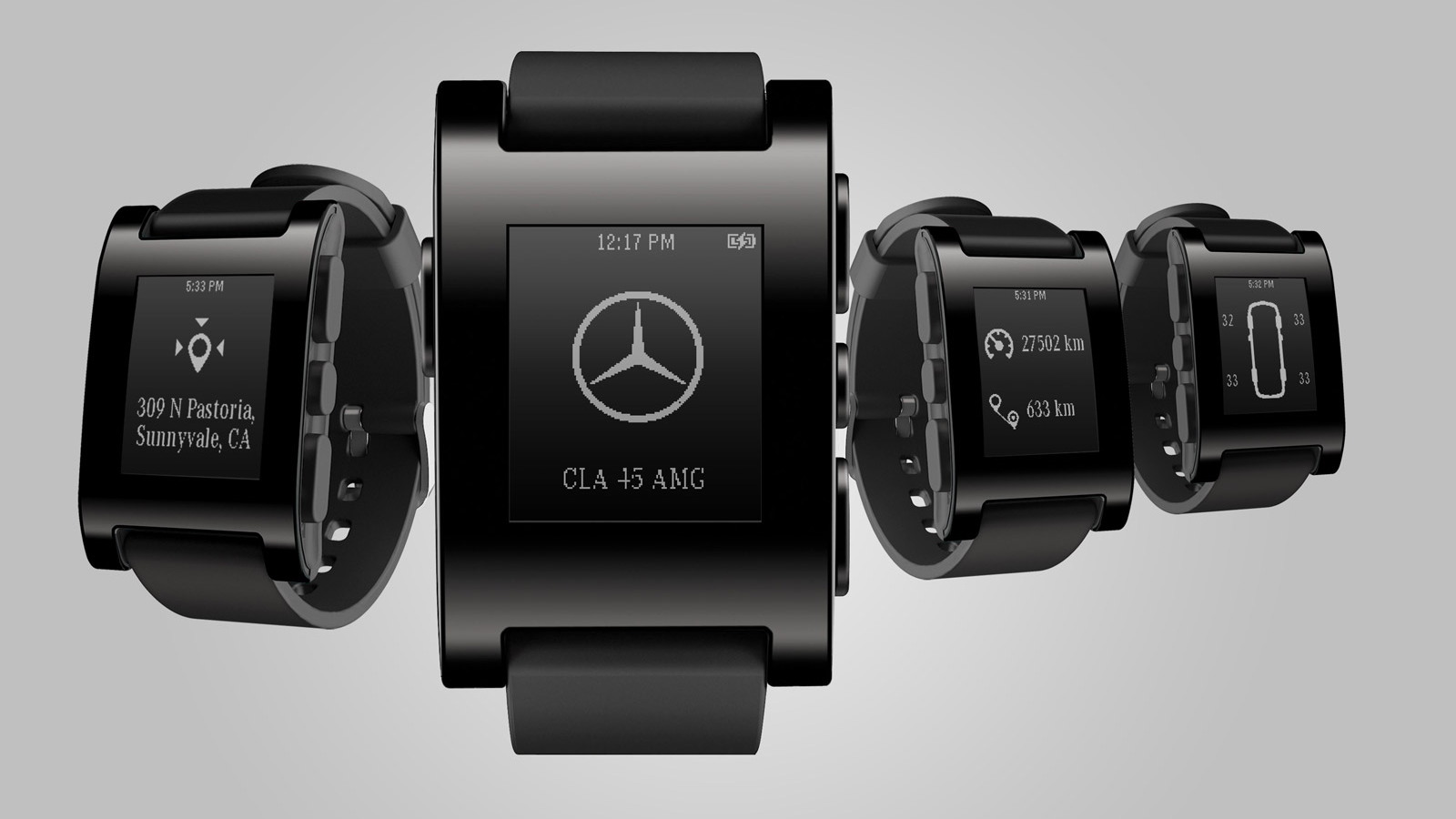 Mercedes-Benz and Pebble Technology smart watch