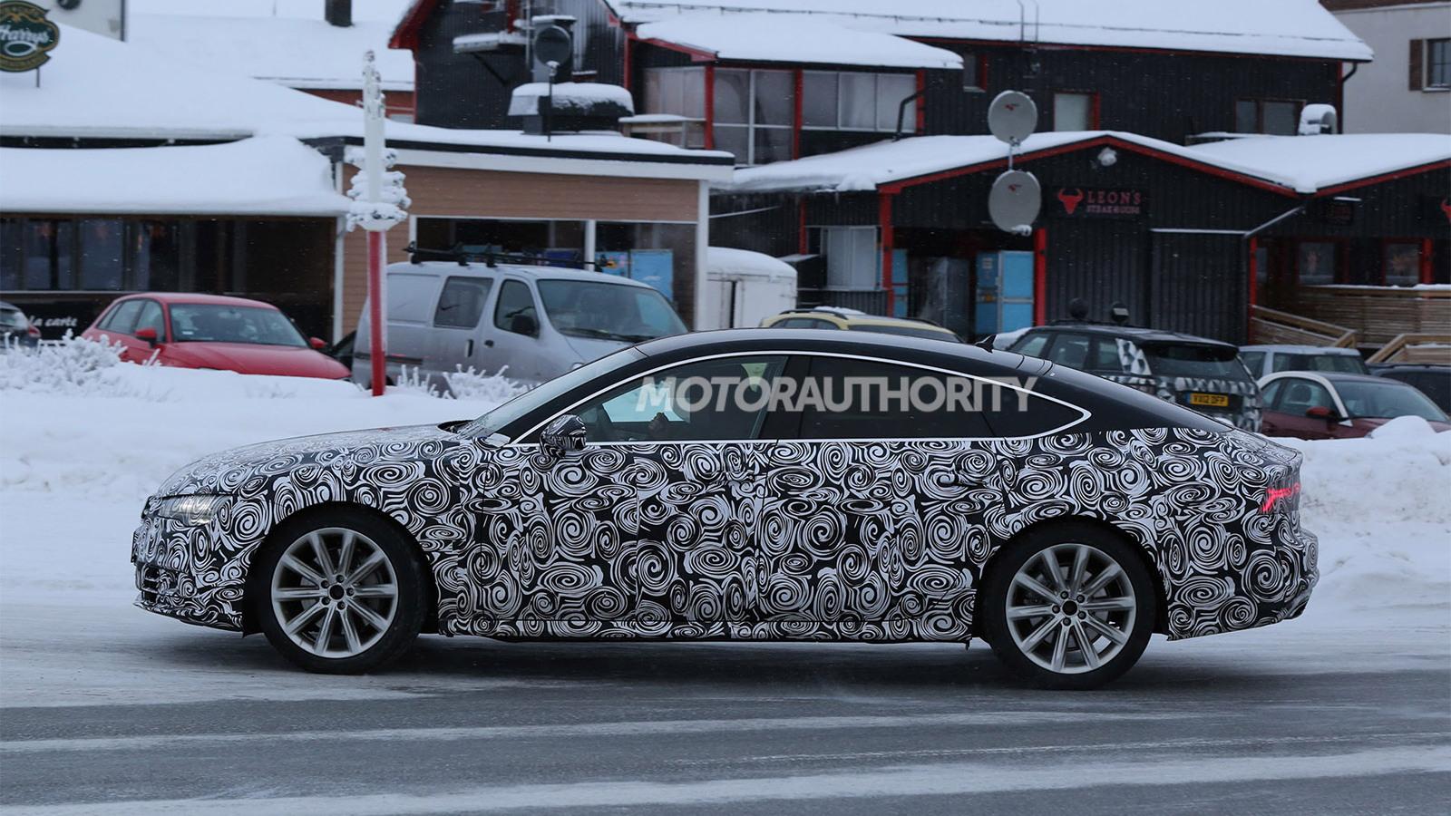 2015 Audi A7 facelift spy shots