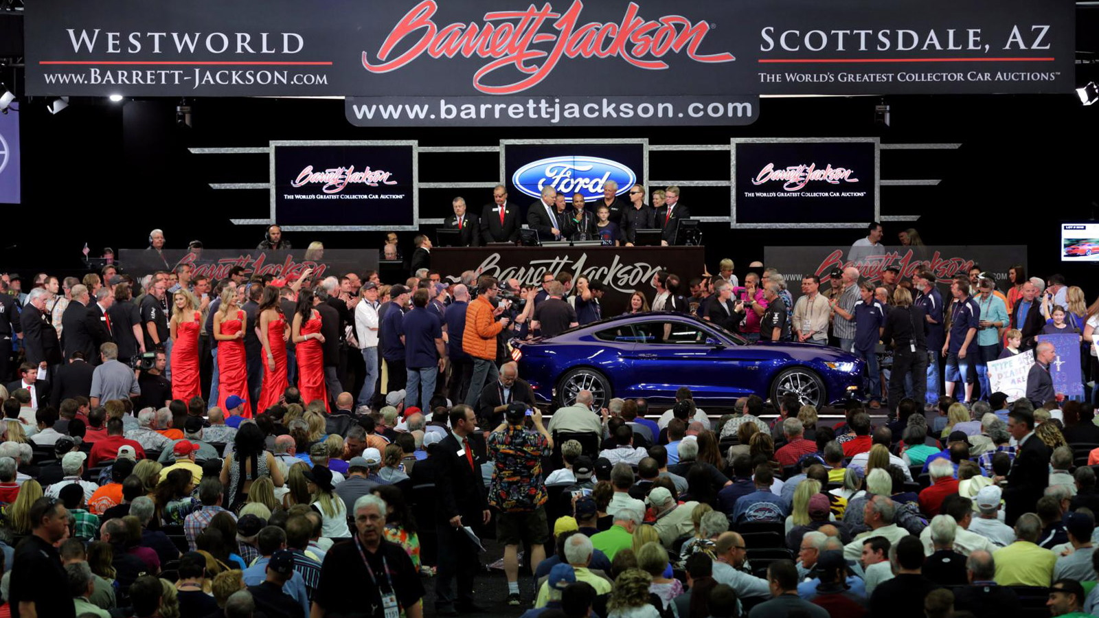 Auction of the first 2015 Ford Mustang GT