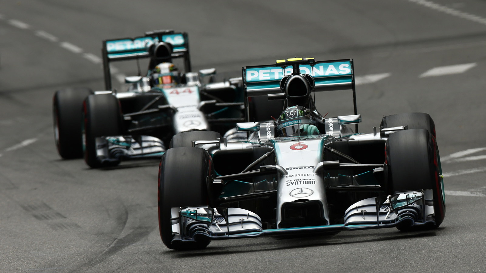 Mercedes AMG at the 2014 Formula One Monaco Grand Prix