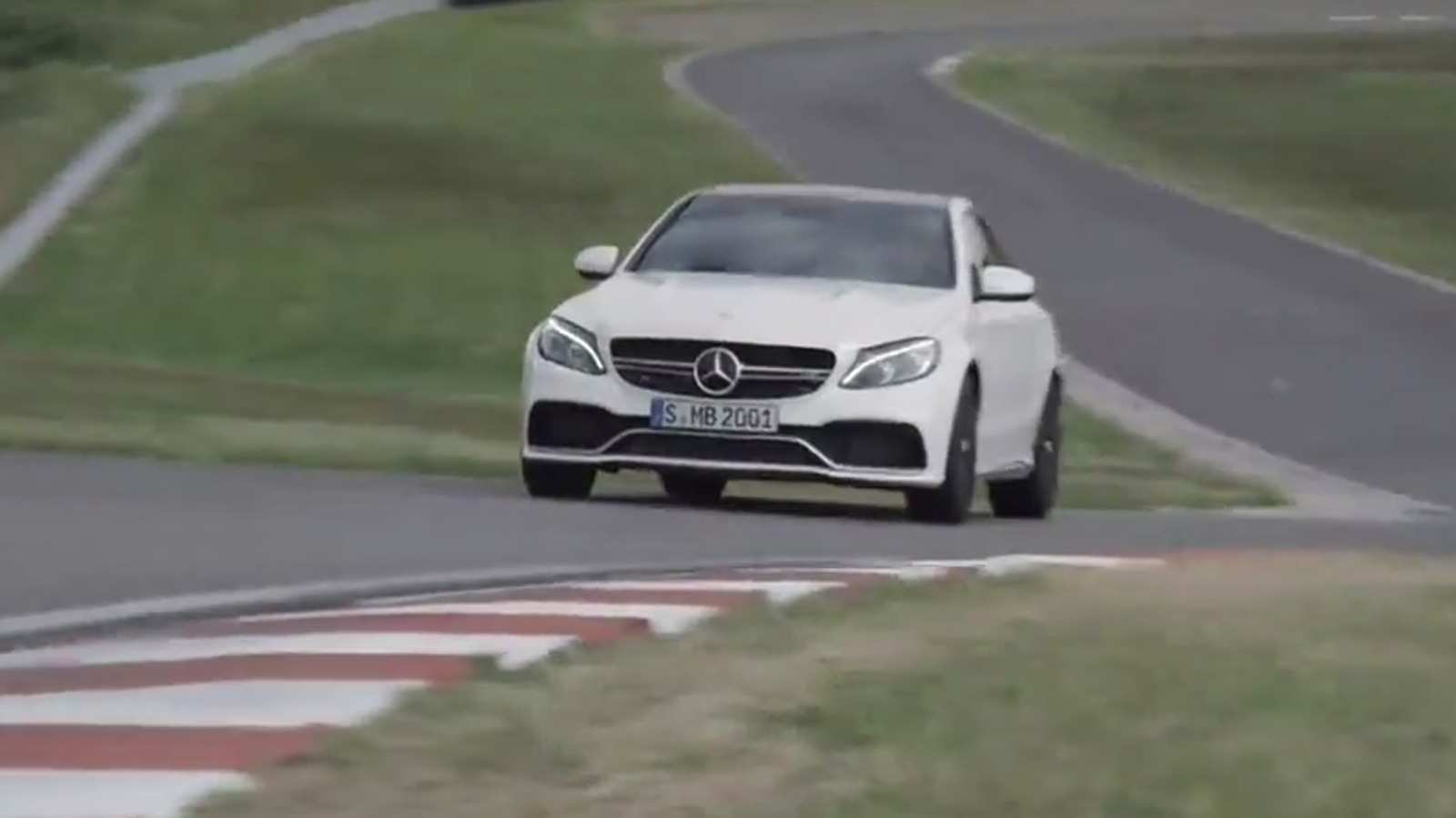 2015 Mercedes-AMG C63 at the track