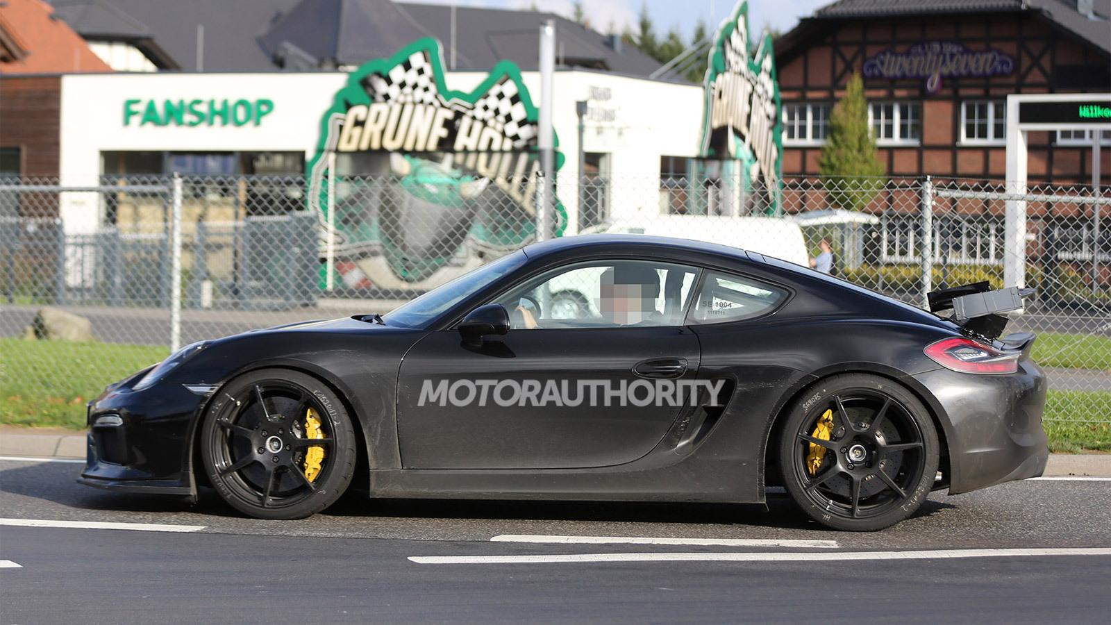 2016 Porsche Cayman GT4 spy shots