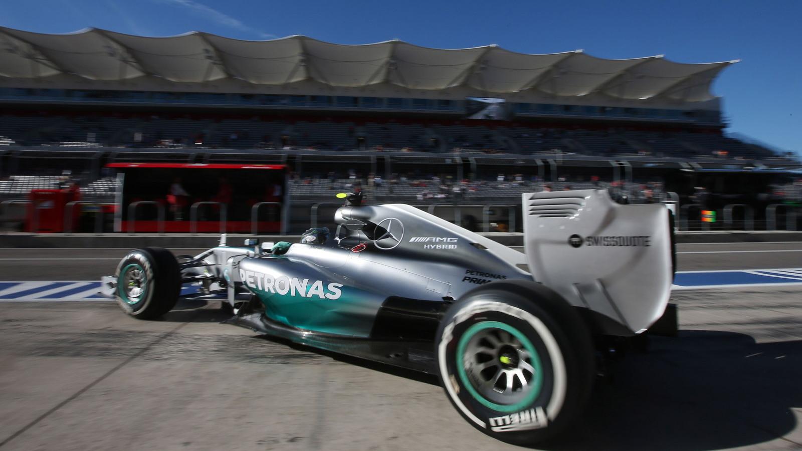 Mercedes AMG at the 2014 Formula One United States Grand Prix