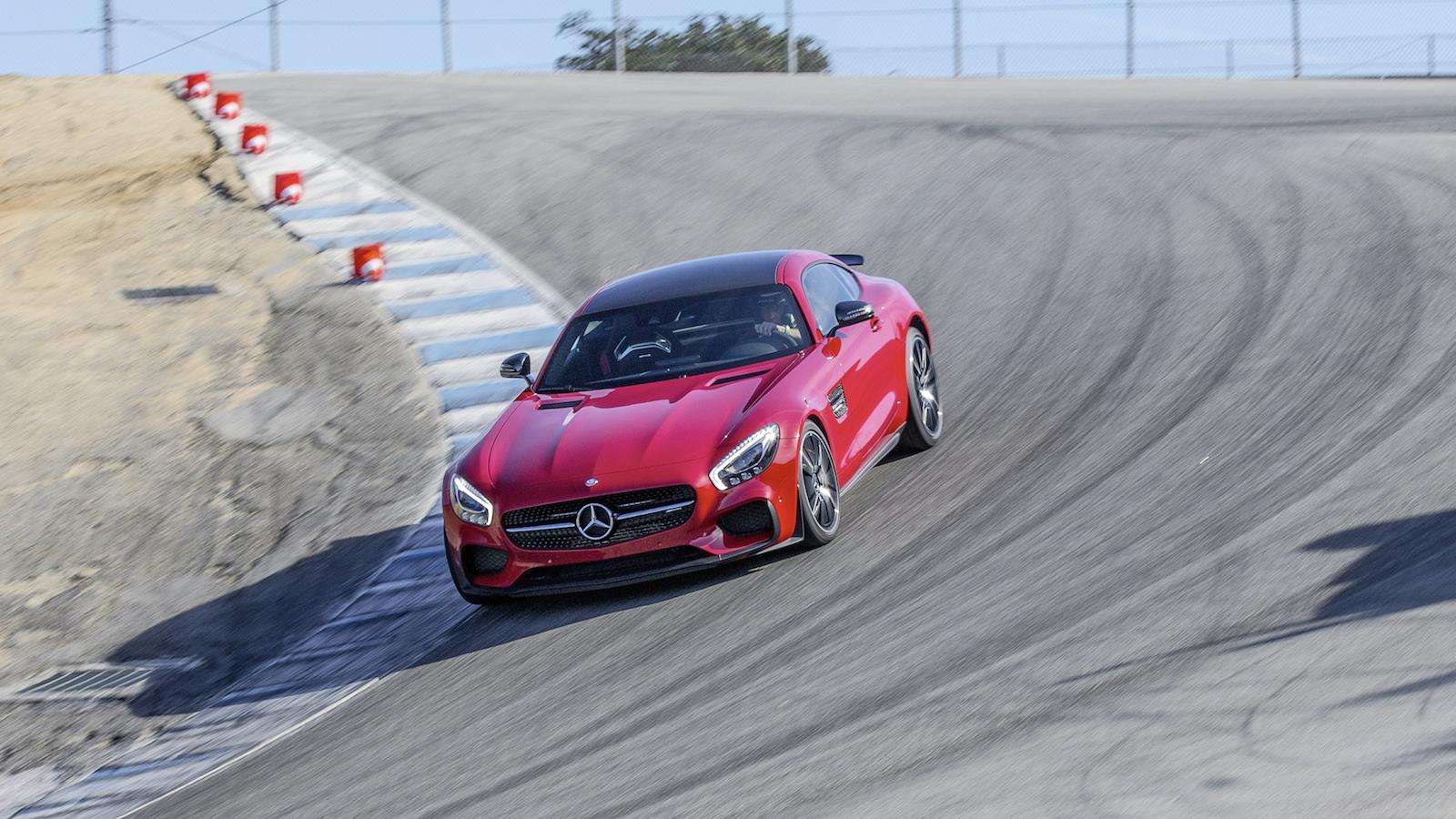 2016 Mercedes-Benz AMG GT S at Laguna Seca, first drive, November 2014
