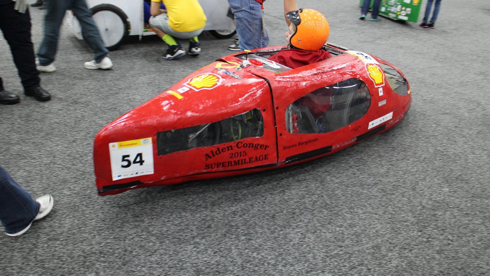 Student team vehicles at the 2015 Shell Eco Marathon Americas