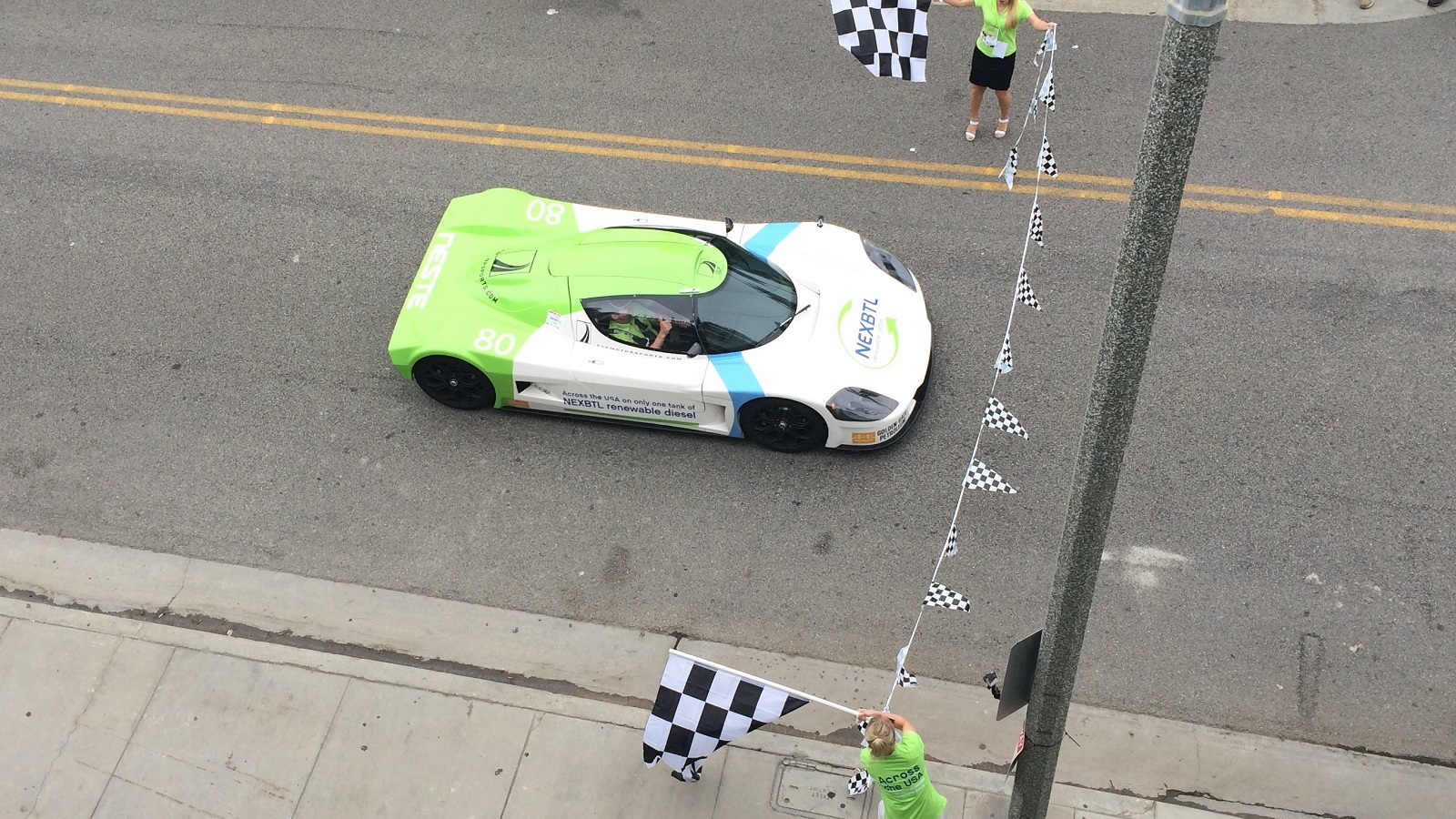 CLP Motorsports SLC crosses finish line after driving 2,507 miles on 37.6 gals of renewable diesel