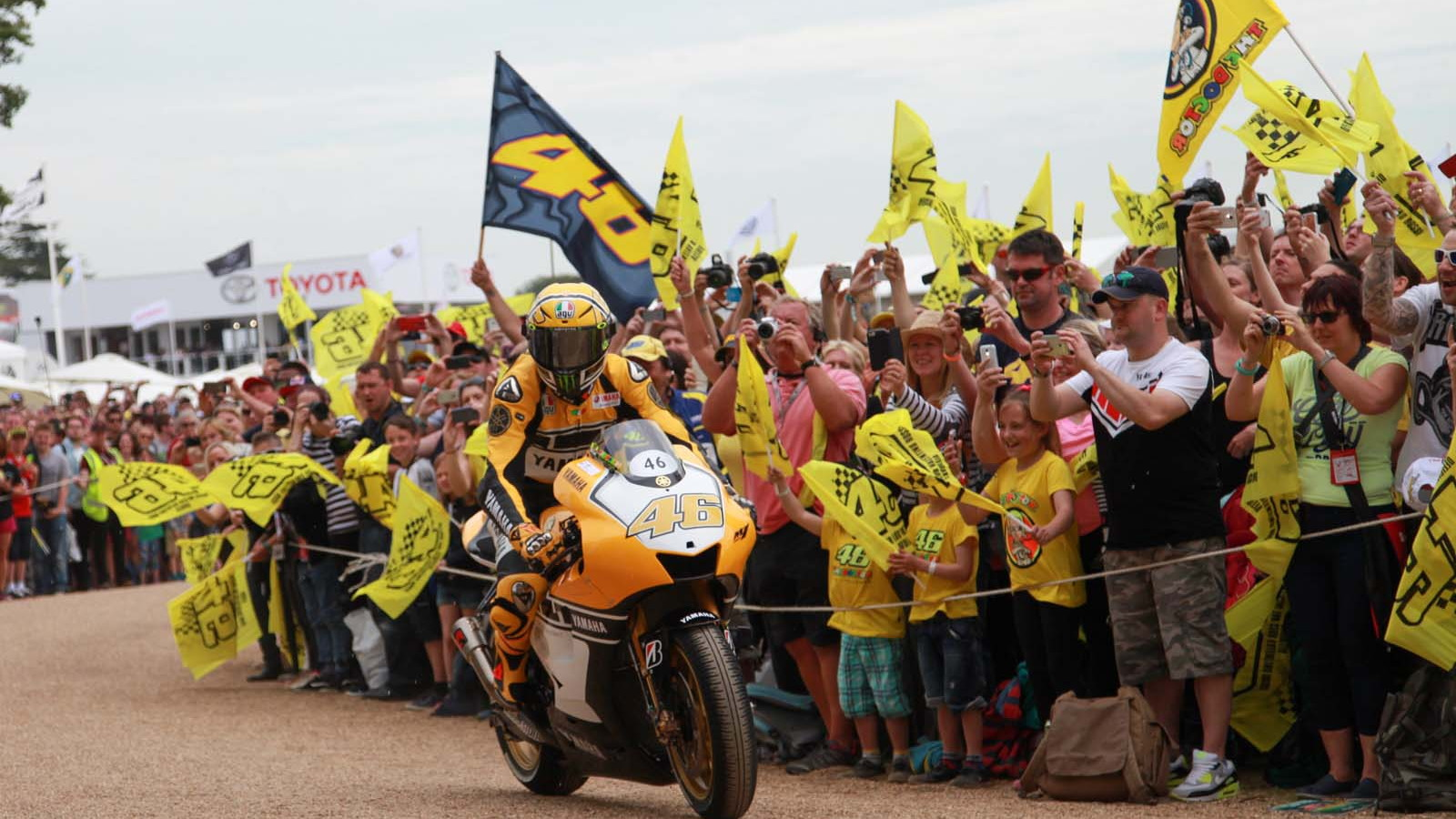 Valentino Rossi at Goodwood FOS