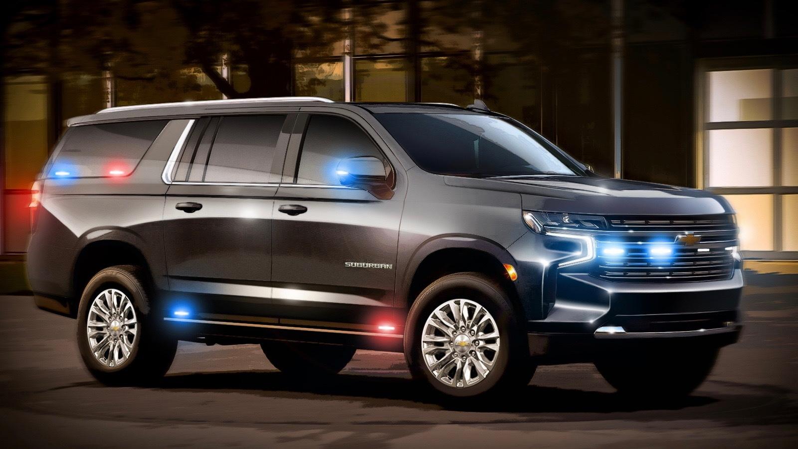 Rendering of U.S. State Department Chevrolet Suburban HD