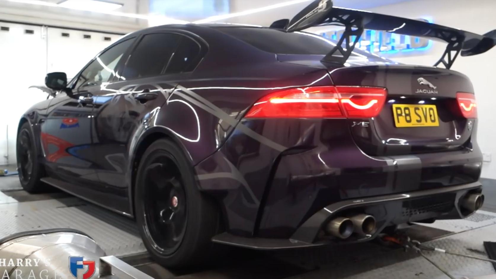 Harry Metcalfe puts his Jaguar Project 8 XE on a dyno