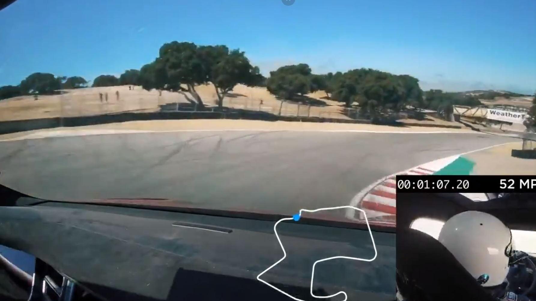 Tesla Model S Laguna Seca record