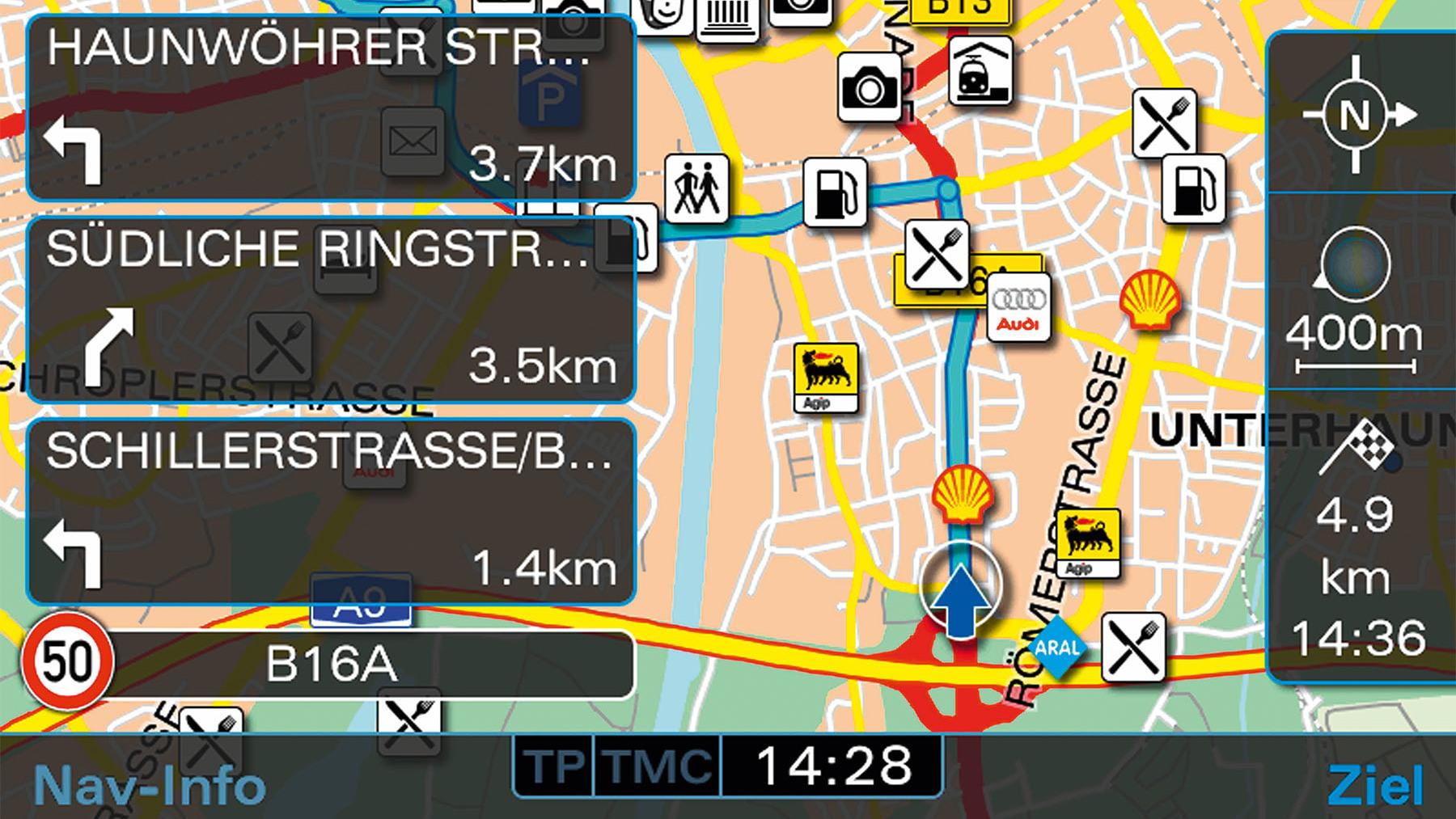 audi navigation system plus media selection 002