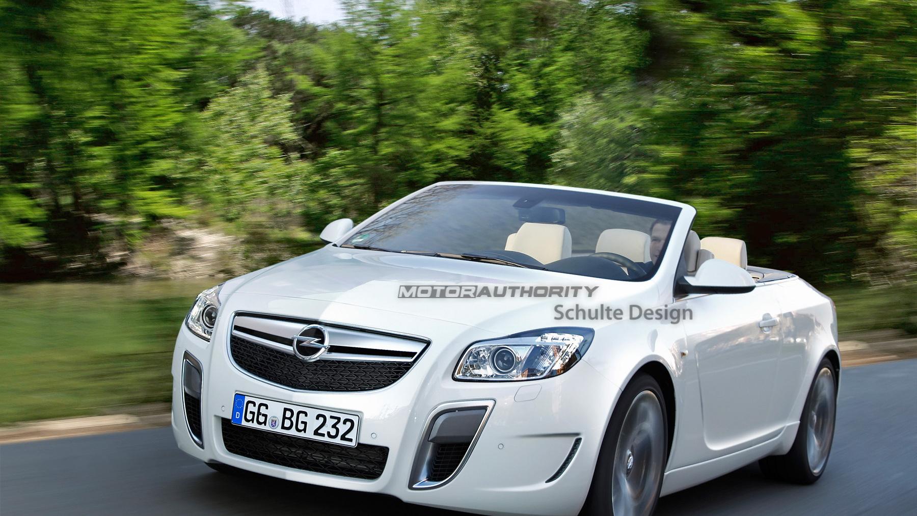 Buick Regal/Opel Insignia convertible preview rendering