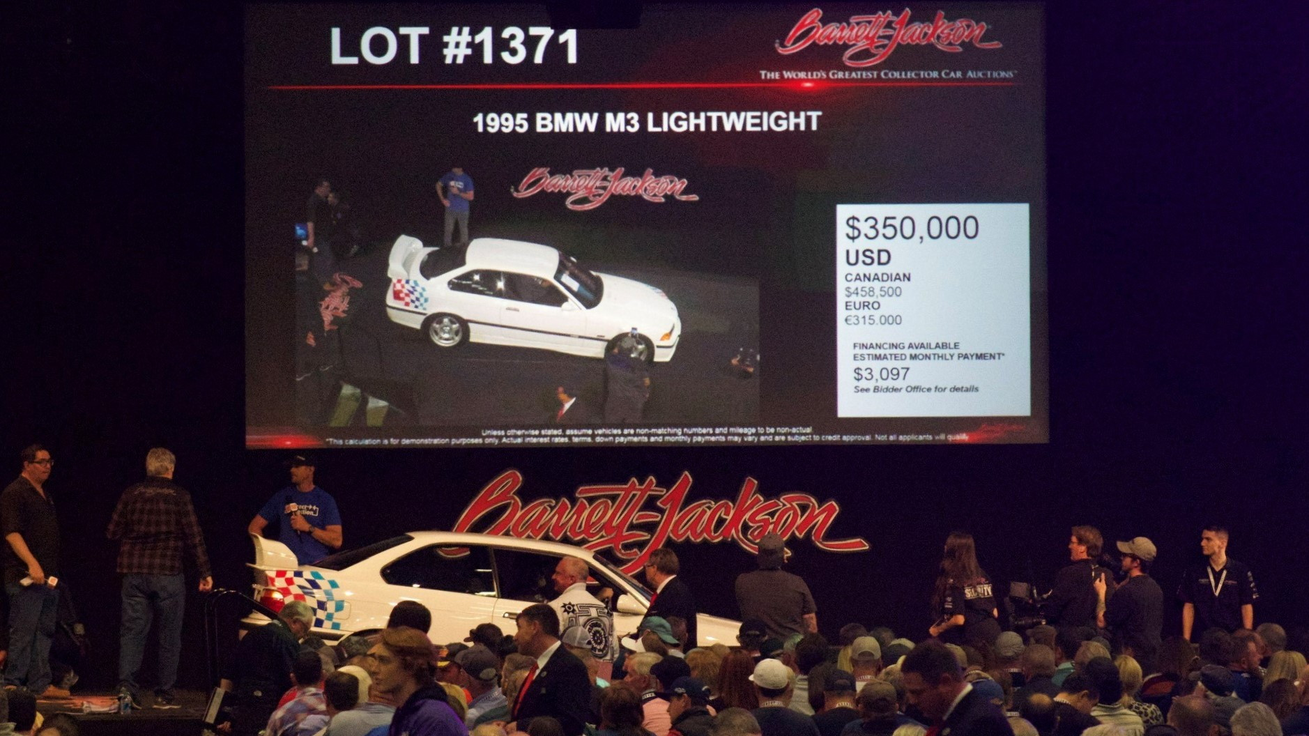 Paul Walker lightweight on Barrett-Jackson block hammer price at $350,000 | Jared Costello photo