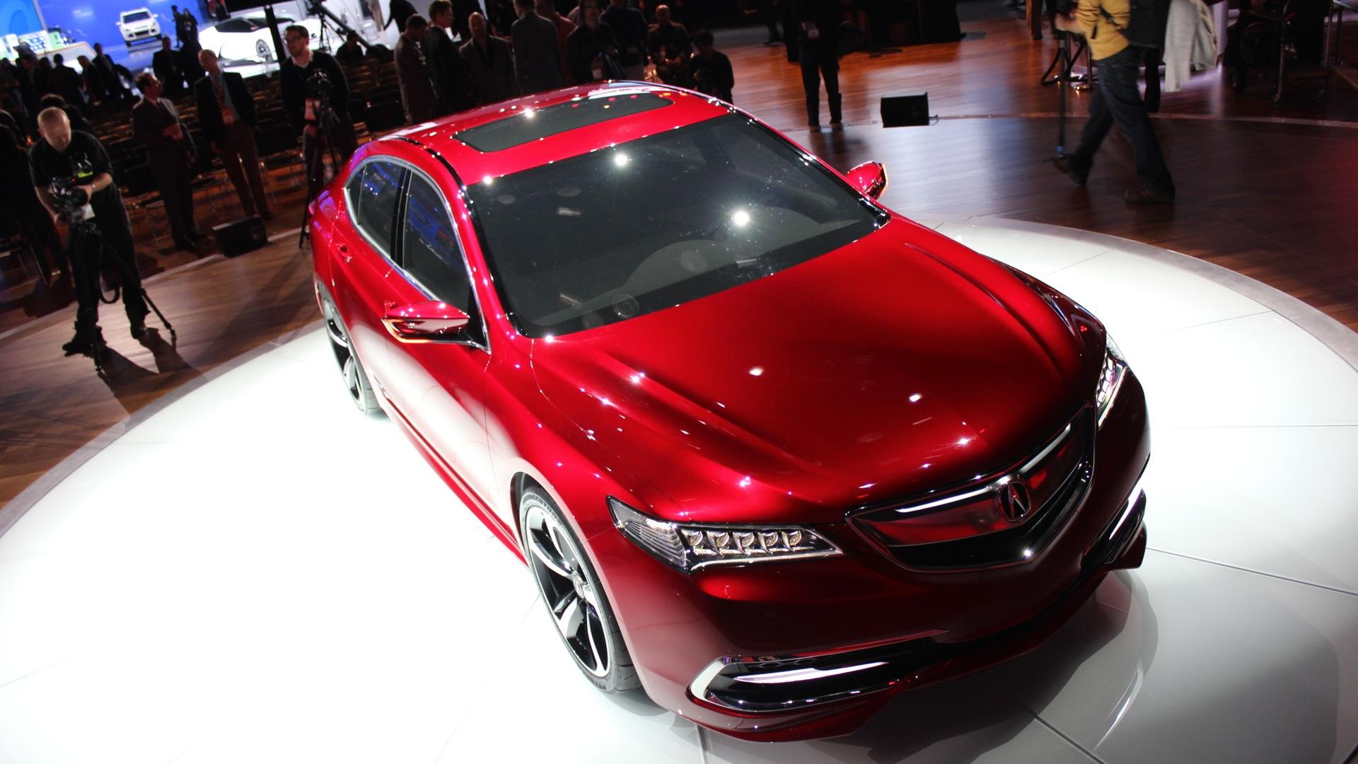 2015 Acura TLX (prototype)  -  2014 Detroit Auto Show live photos