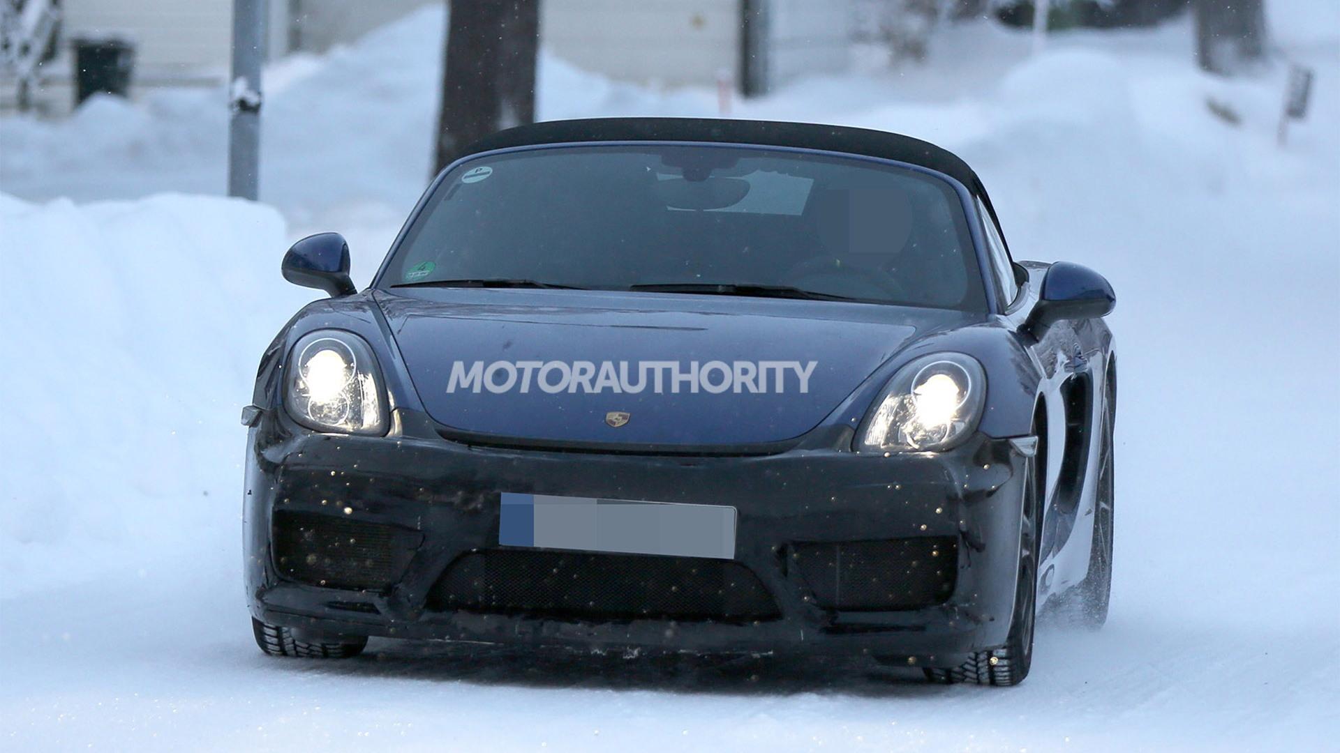 2016 Porsche Boxster RS Spyder spy shots - Image via S. Baldauf/SB-Medien