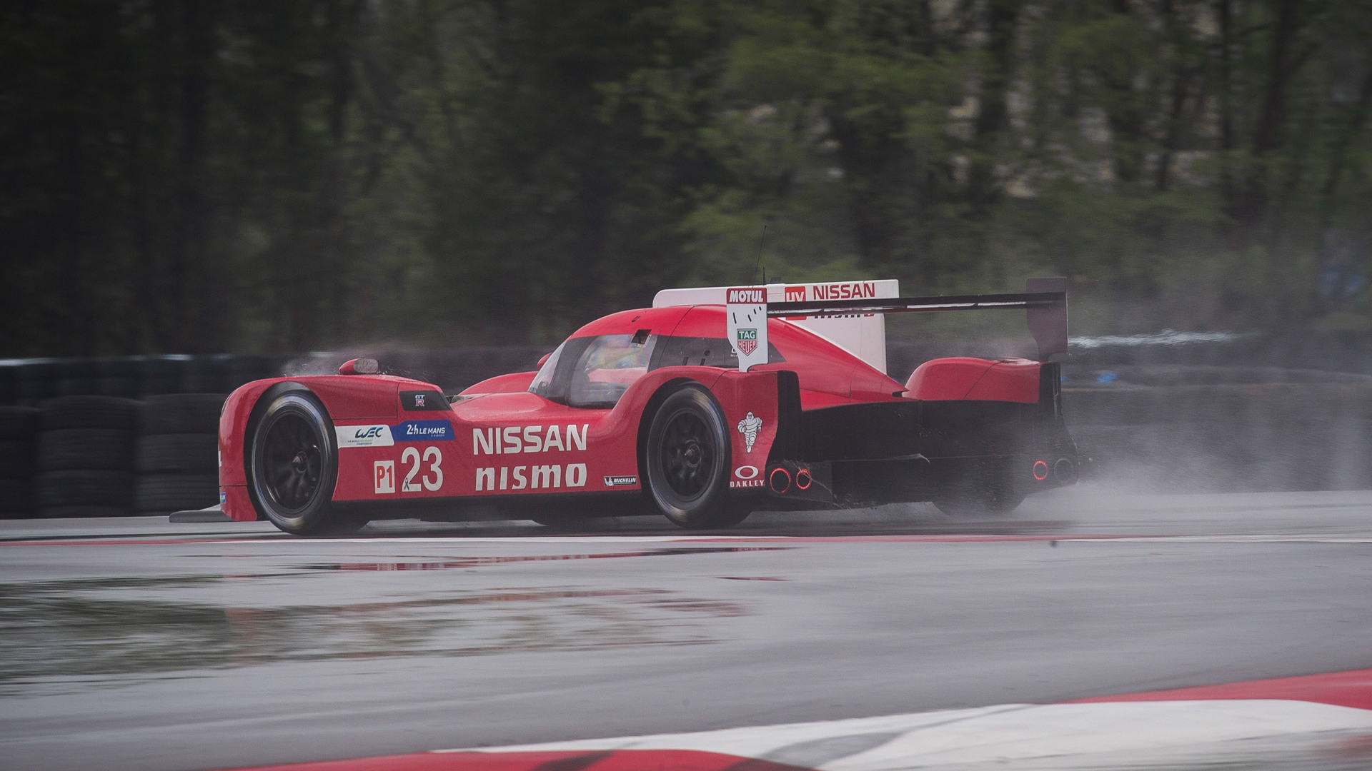 2015 Nissan GT-R LM NISMO LMP1 testing at NCM Motorsports Park in Bowling Green, Kentucky